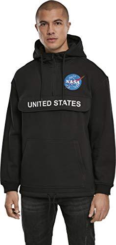 Mister Tee Herren NASA Definition Pull Over Hoody Pullover, Black, XL