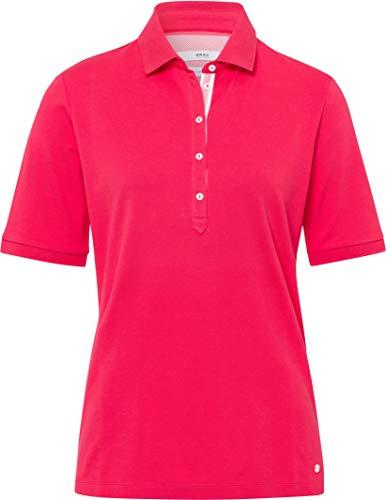 BRAX Damen Style Cleo Finest Pique Stretch Poloshirt, Rosa (Papaya 85), (Herstellergröße: 44)