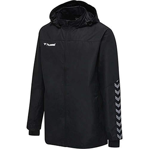 hummel Jungen hmlAUTHENTIC Kids All-Weather Jacket Jacke, Black/White, 140