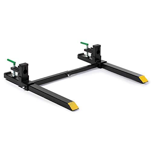Titan Attachments 30' Light-Duty Clamp-On Pallet Forks Adjustable Stabilizer Rate 1500 LB Loader or Skid Steer