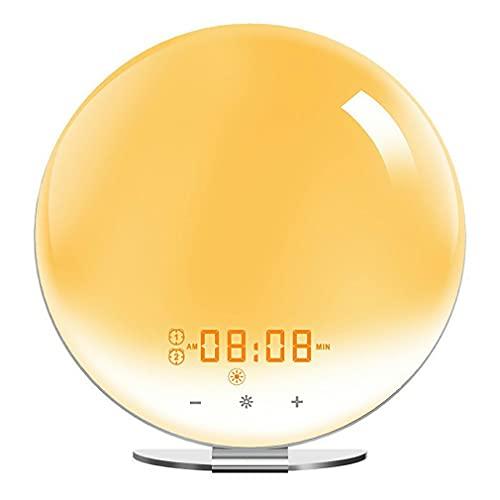 Wifi Smart Wake Up Light Werkdag Wekker 7 Kleuren Werkt Met Alexa Home White Eu