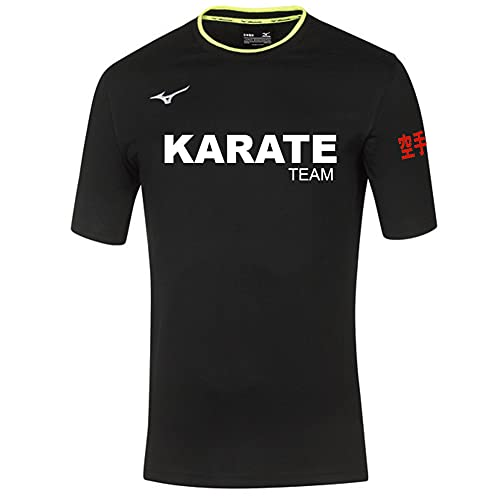 Mizuno Camiseta Karate Team negra, Negro , XL