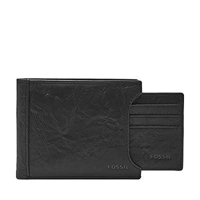 Fossil Men's Sliding 2 in 1 Wallet, Black, One Size