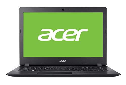 Acer Aspire 1 | A114-32 - Ordenador portátil de 14' HD (Intel Celeron N4000, 4 GB RAM, 64 GB eMMC, UMA, Windows 10 Home con S Mode & Office 365 Personal) Negro - Teclado QWERTY Español