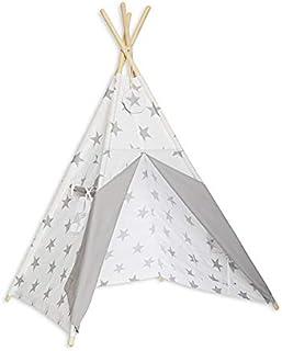 Rolig med mamma TEN-BRI-GRE tipi-tält – ljusgrå