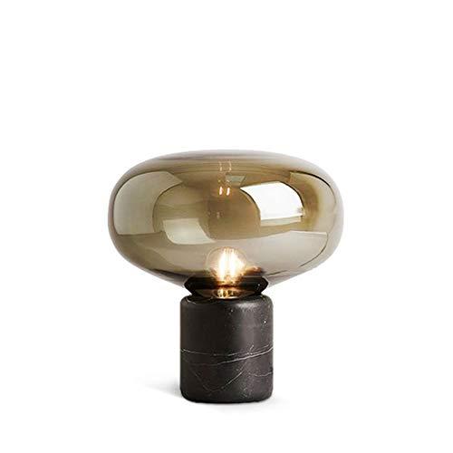 Lampara Mesilla Lámparas de Mesa industriales Lámparas de Lectura de la Mesa de Noche con Sombra de Cristal para Dormitorio Oficina Oficina decoración para Dormitorio Sala de Estar Lámparas d