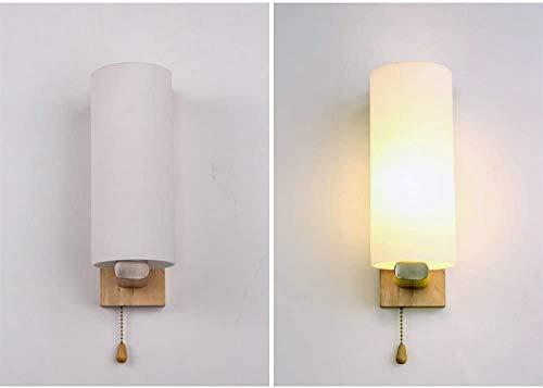 Lámpara de vidrio de madera LED, el desplegable línea de cintura cambia, para interior decorativo de pared aplique de la casa habitación de noche viven,A