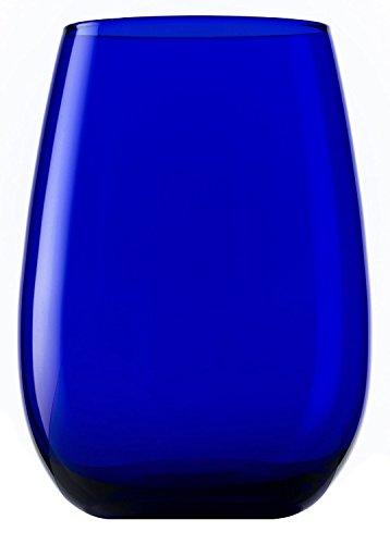 Vasos Elements de Stölzle Lausitz, 465 ml, Azul Cobalto, Juego de 6 Unidades, compatibles con lavavajillas, Vasos de Colores