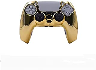 ABS high quanlity Cover for Sony PS5 Gamepad 360° Protection High Fit with Gamepad (Golden)