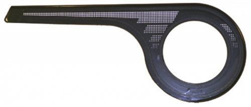 Kettenschutz AXA 1-flügelig 48 Zähne, für Nabenschaltung, schwarz (1 Stück)