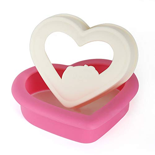 Sandwich Cutter and Sealer, Sandwich Cutter for Kids, Remove Bread Crust, Make DIY Pocket Sandwiches, Great for Lunchbox and Bento Box - Boys and Girls Kids Lunch - Non Toxic,Easy to Use(Heart Shape)