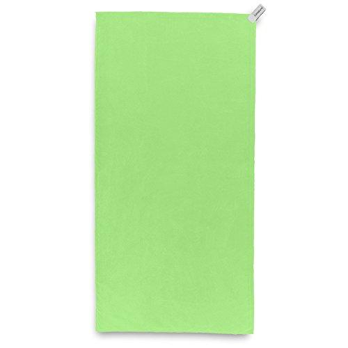Lumaland Mikrofaser Reisehandtuch Extra leicht und kompakt verschiedene Farben und Größen Grün 80x150cm