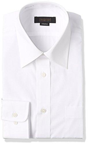 [スティングロード] 長袖 レギュラーカラー 白ワイシャツ 形態安定 ノーアイロン 綿高率混 レギュラーフィット MA1112-AM-1 メンズ ホワイト 首回り40cm裄丈80cm