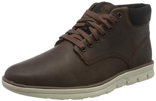 Timberland Bradstreet Chukka Leather, Stivali Uomo, Pelle, Materiale suola: Gomma, Larghezza scarpa: medium, Marrone (Dark Brown Full Grain), 41 EU