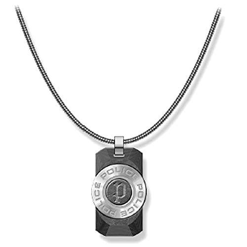 Police Collar Hombre - Cadena de Acero - Plateado - PJ.26567PSS-01