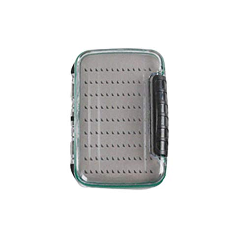 BESPORTBLE Fliegenbox Angelgerät Aufbewahrungsbox Fliegen Veranstalter Wasserdicht Doppelseitig Klar Deckel Grau Größe S