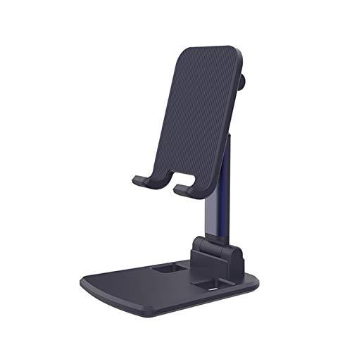 Kesio Soporte plegable para teléfono, altura ajustable, vertical, soporte para teléfono móvil, compatible con iPhone Xs Xr 8 X 7 6 6S Plus SE 5 5s 5c, todos los smartphones – negro