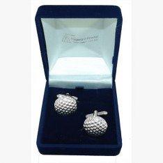Boutons de manchette en forme de balle de Golf, cadeau de mariage/Best Man/Usher, livrés dans un sachet en Organza
