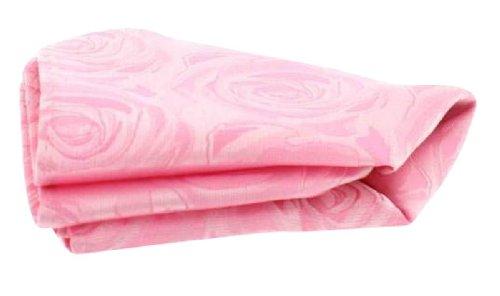 David Van Hagen Mouchoir de mariage pâle rose en soie de
