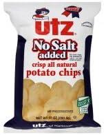 Utz Potato Chips No Memphis Mall Salt Added 55% OFF oz 10 3 of pack
