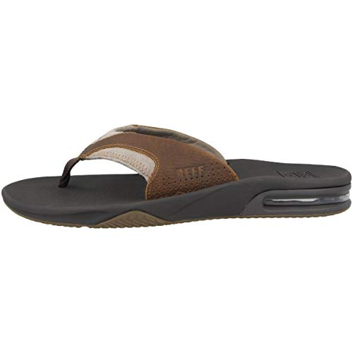 Reef 4 Leather Fanning, Chanclas Hombre, Brown, 46 EU
