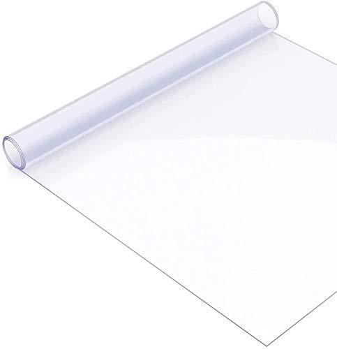 DSJMUY Pellicola Protettiva per Tavolo,Tovaglia in PVC Trasparente Pellicola Trasparente,0,5mm Pellicola Protettiva Trasparente e Lucida, Protezione per Tavolo, tovaglia(90x140cm/35.43x55.12in)