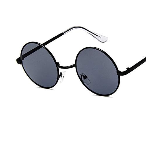 Gafas de Sol Sunglasses Gafas De Sol Clásicas con Montura Redonda para Hombres Y Mujeres, Gafas De Sol Universales con Montura De Metal Vintage, Gradiente, Lentes De Océano, Gafas