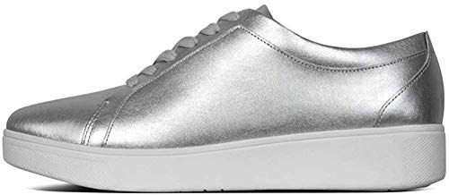 Fitflop Damen Rally Slip On Sneaker, Silber (Silver 011), 39 EU