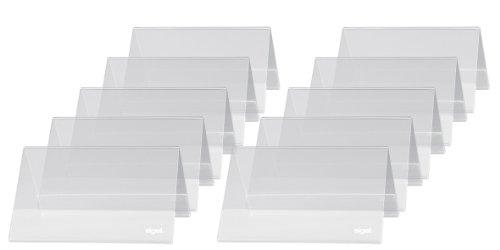SIGEL TA136 Soporte de sobremesa, forma de tejado, Plástico duro, para 100x60 mm, 10 unds.