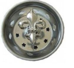 FLEUR DE LIS Kitchen Sink Strainer plug stopper FRENCH by Billy Joe Homewares