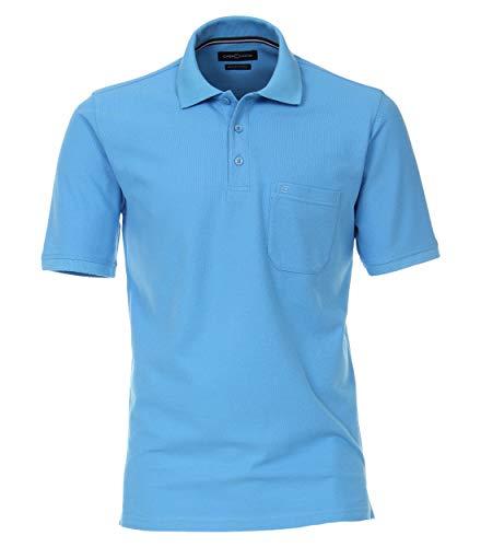 CASAMODA 004370 - Polo para hombre con bolsillo en el pecho azul celeste L
