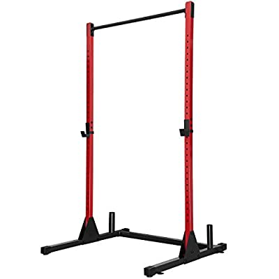 Power Rack 500LB Max Load Adjustable Power Cage Squat Rack Stand with J-Hooks for Home Gym Full Body Multi-Function Fitness Workout