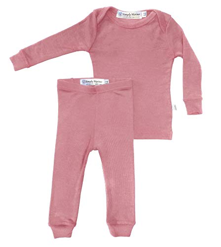 Product Image of the Simply Merino Wool Kids Pink Girls Thermal Underwear Base Layer Unisex. Size 4,...