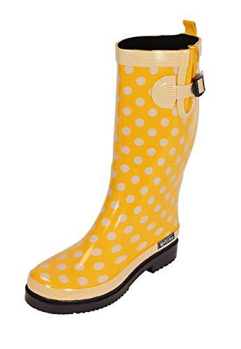 MADSea Damen Gummistiefel Ocean High Gelb Langschaft Regenstiefel, Größe:42 EU