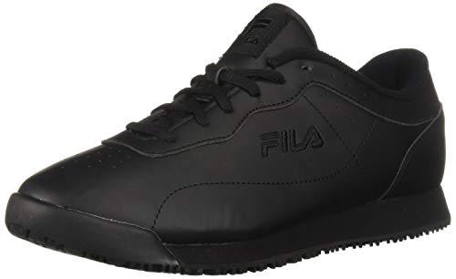 Fila Women's Memory Viable Slip Resistant Work Shoe Food Service, Black, 5.5 B US