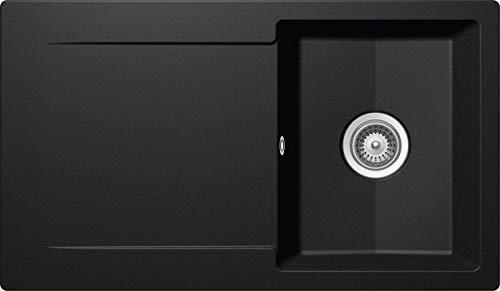 SCHOCK Küchenspüle 86 x 50 cm Epure D-100 Nero - CRISTALITE Granitspüle ab 45 cm Unterschrank-Breite