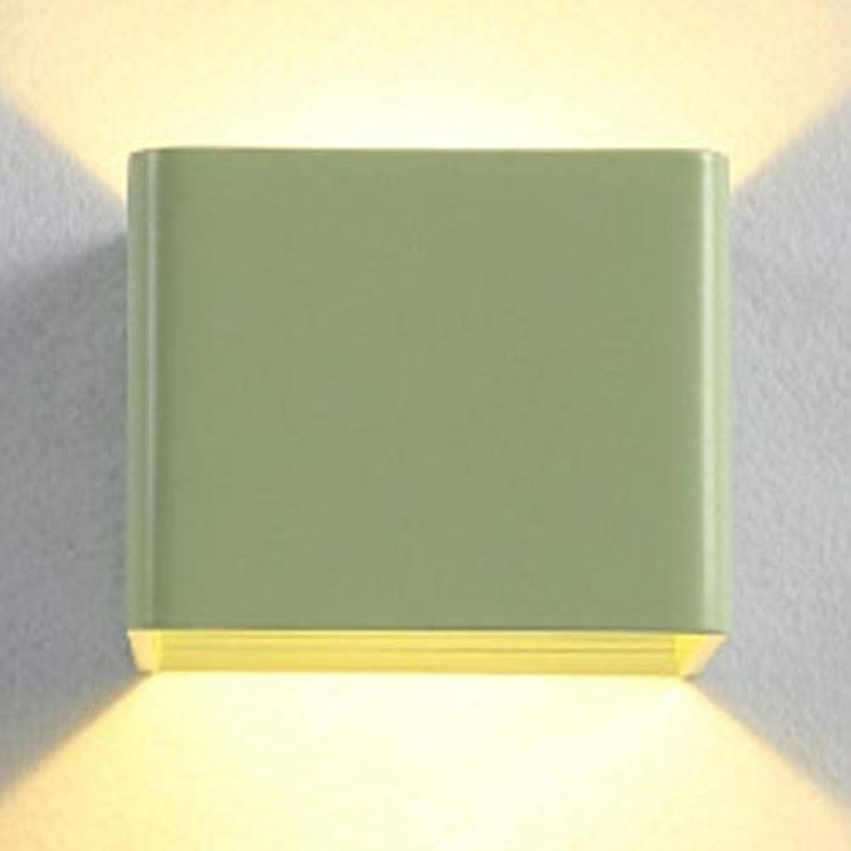 DRQ LED Moderne Kreative Aluminium Wandleuchte Einfache 85-265 V Schlafzimmer Dekoration Leuchtet Innen Esszimmer Hotel Korridor Wandleuchte,Grün-10  10  8CM