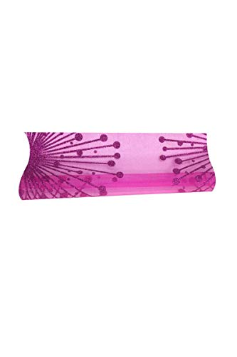 Chemin de table organza artifices fuchsia