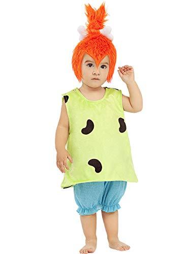 Funidelia | Disfraz de Pebbles - Los Picapiedra Oficial para beb Talla 1-2 aos The Flintstones, Dibujos Animados, Los Picapiedra, Caverncolas