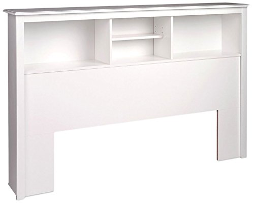 Prepac Full/Queen Bookcase Headboard, White