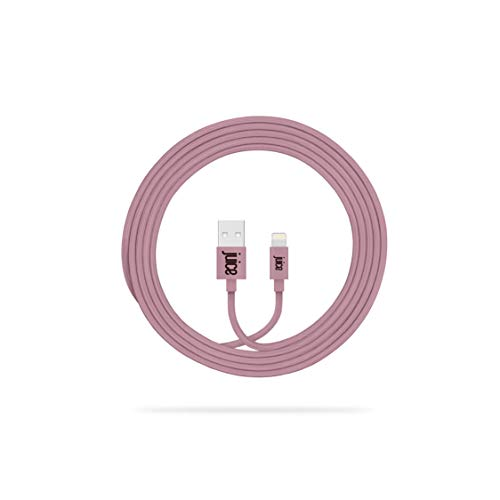 Juice Braided Apple iPhone 11, Pro, iPhone X, Xr, iPhone 8, 7, 6, SE, iPad Lightning Charge and Sync Cable, 2M, Rose Gold, JUI-CABLE-LIGHT-2M-BRD-RGD