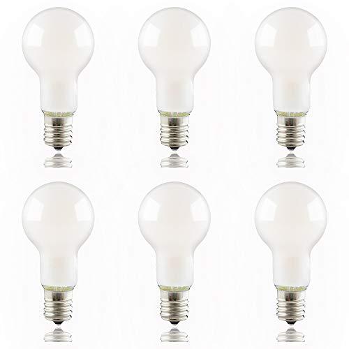 ygdesign LED電球 E17口金 60W形相当 電球色 ミニクリプトン クリプトン電球 フィラメント エジソン電球 全方向 3000K 口金直径17mm 小型電球 ガラス球 シャンデリア PSE認証 省エネ 6個入
