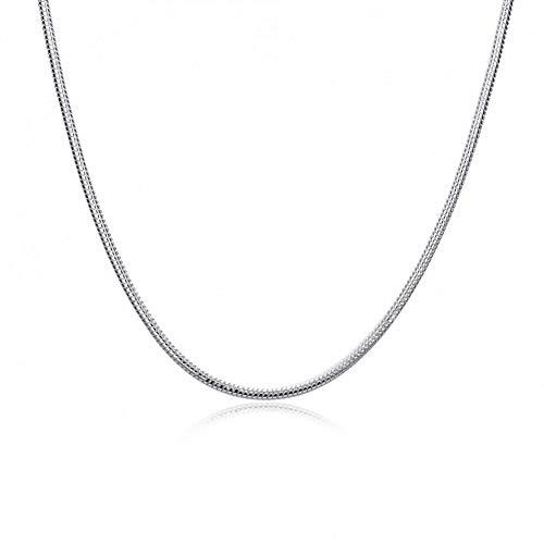 FyaWTM Collar Colgante For Collar de Plata 925 Collar de Serpiente de Cadena Gruesa de 2 mm JoyeríaMasculina Joyería de Hombres