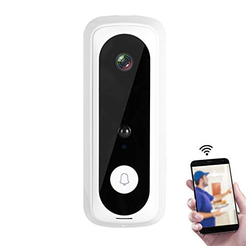Kabellose Video-Türklingel, 1080P HD WiFi Türklingel, Kamera-Türsprechanlage mit Nachtsicht, wasserdicht