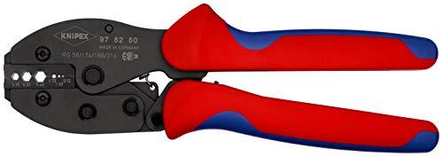 KNIPEX 97 52 50 PreciForce® Crimpzange brüniert mit Mehrkomponenten-Hüllen 220 mm