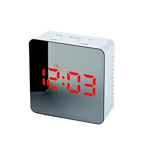 LED Alarma Reloj de noche Luces de noche Termómetro Reloj de pared Lámpara Rectángulo cuadrado Rectángulo Multifunción Escritorio Relojes Digital Espejo Alarma Automóvil, Mesa de noche, Escritorio, Es