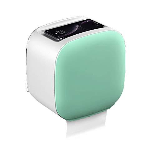 WSXEDC Soporte de Papel de Papel Tapete Adhesivo Montaje de Pared Pañuelo Facial Toalla de Papel Dispensador de Toallas, con Estante y cajón, Adecuado para baño Portarrollos