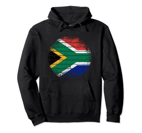 Sudáfrica Vintage Sudafricana Bandera áspero Sudadera con Capucha