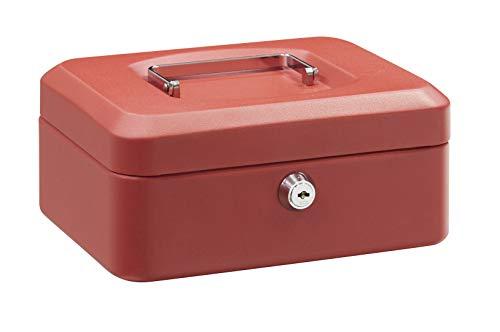 Arregui 1832D41 Caja de Caudales con Bandeja, Rojo, 200 x 90 x 160 mm