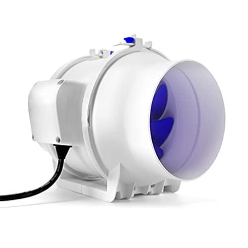 YOUCHOU Ventilador de conducto silencioso en línea de 6 Pulgadas, Extractor de Aire, ventilación de Escape para el hogar, baño, Cocina, Ventilador